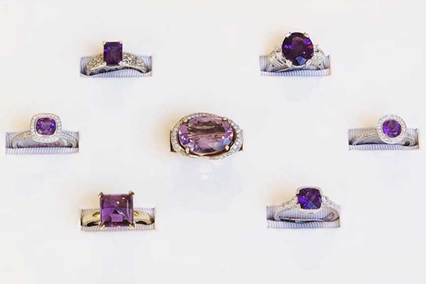 Joy-Den - Amethyst Rings