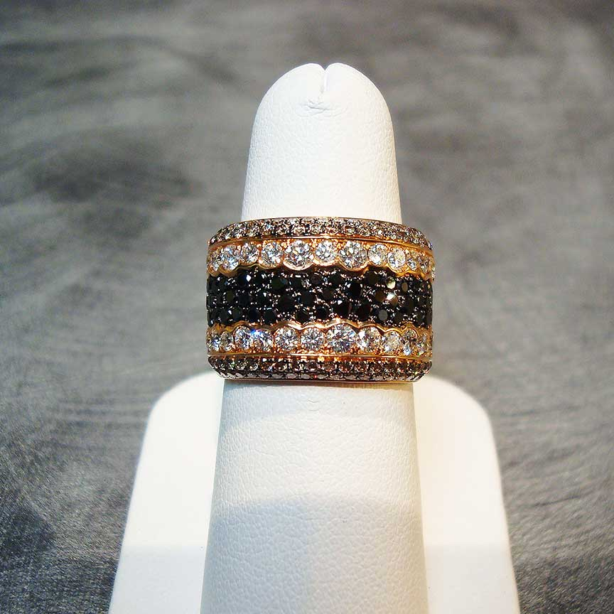 Joy-Den Jewelers - Custom Jewelry Design - Diamond Gold Black Onyx Ring
