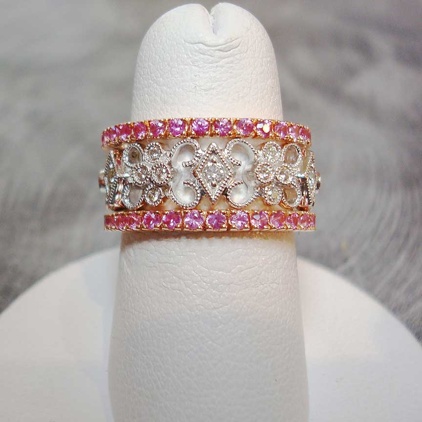 Joy-Den Jewelers - Custom Jewelry Design - Diamond Pink Ring