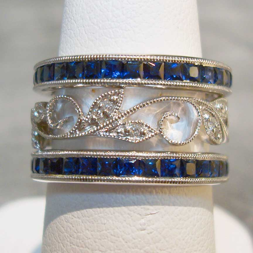 Joy-Den Jewelers - Jewelry Designer - Sapphire Diamond Band