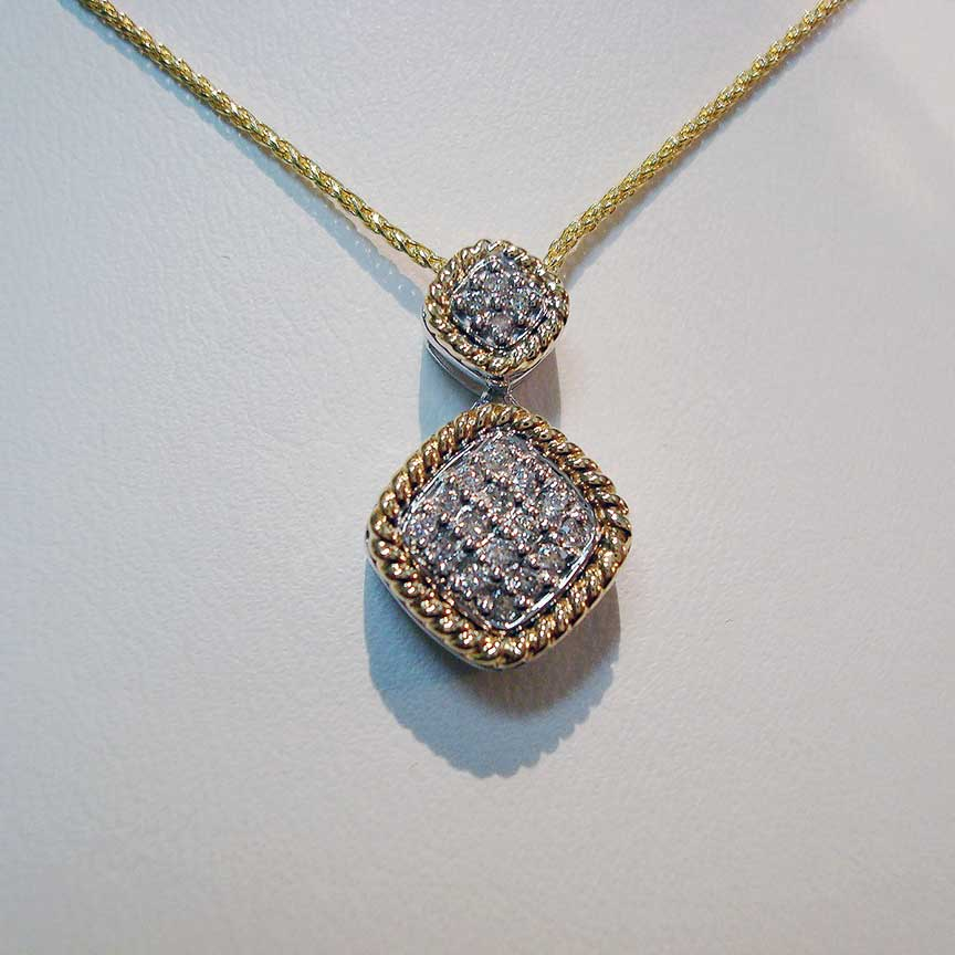 Joy-Den Jewelers - Custom Jewelry Design - Diamond Gold Necklace