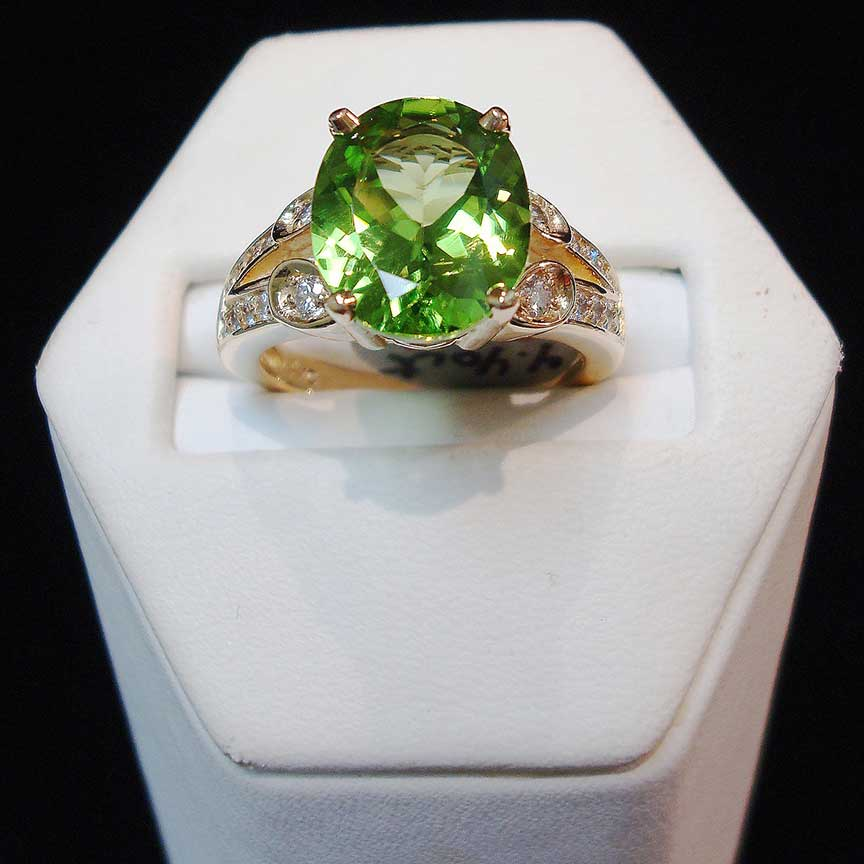 Joy-Den Jewelers - Custom Jewelry Design - Peridot Ring