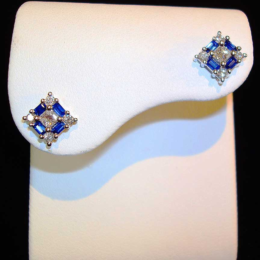 Joy-Den Jewelers - Custom Jewelry Design - Sapphire Earrings