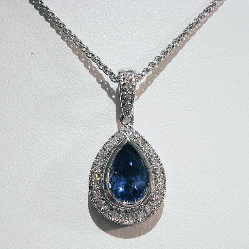 Joy-Den Jewelers - Custom Jewelry Design - Sapphire Necklace